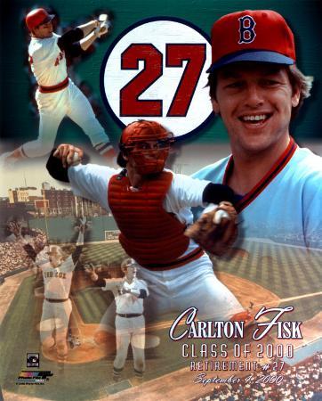 Carlton Fisk - Uniform #27 Retirement Day '00 Collage