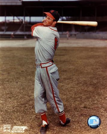 Stan Musial - with bat over shoulder, posed