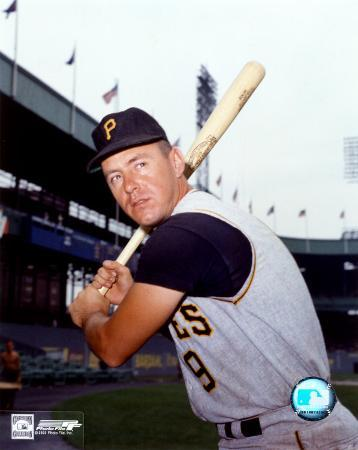 Bill Mazeroski - Bat on shoulder, posed