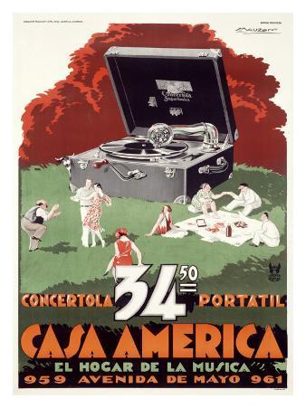 Portable Phonograph, Casa America