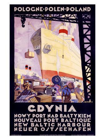 Polish Shipping Port of Gdynia