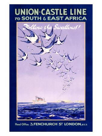 Union Castle Line to South Africa
