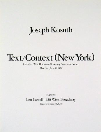 Text/Context (New York)