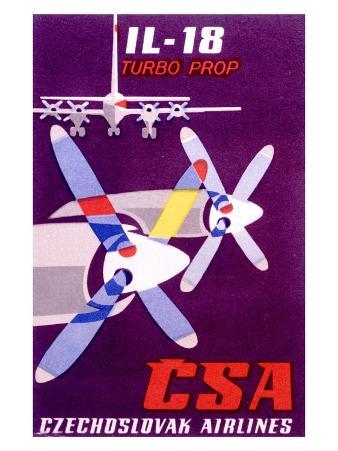 CSA Czech Il 18 Turbo Prop Airline