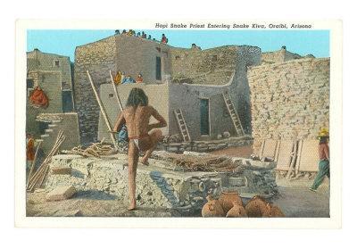Hopi Entering Kiva, Oraibi, Arizona