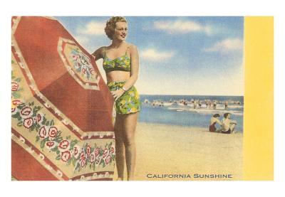 California Sunshine Beach Scene