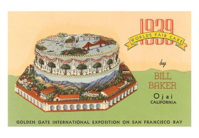 1939 Worlds Fair Cake, Golden Gate Exposition