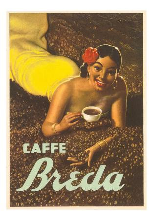 Caffe Breda, Woman in Coffee Beans