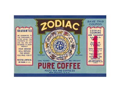 Zodiac Pure Coffee Label
