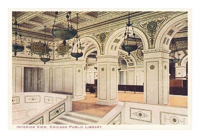 Interior, Library, Chicago, Illinois