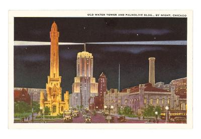 Water Tower and Palmolive Building, Chicago, Illinois