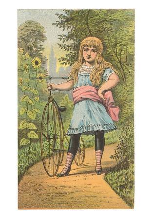 Girl with Penny-Farthing, Illustration