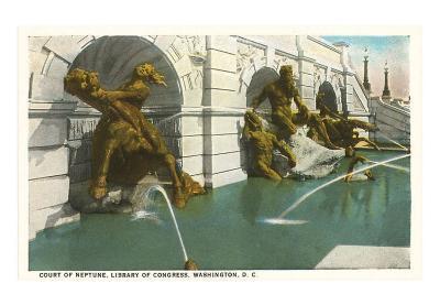Neptune Fountain, Library of Congress, Washington D.C.