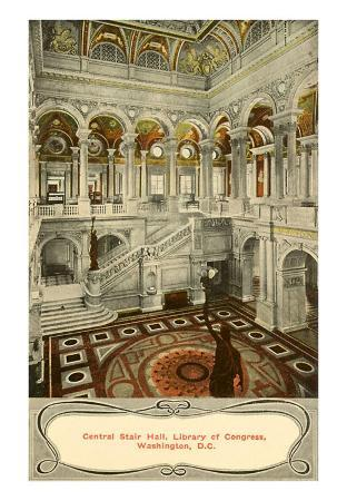 Central Stair Hall, Library of Congress, Washington D.C.