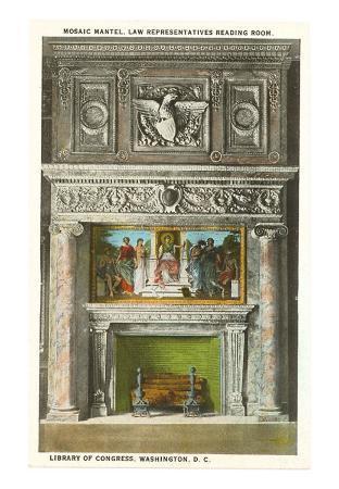 Mosaic Mantel, Library of Congress, Washington D.C.