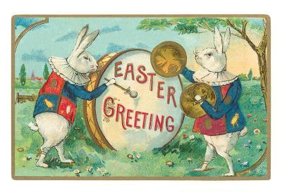 Easter Greeting, Page Rabbits with Drum