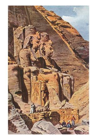 Giant Seated Pharaohs at Abu Simbel