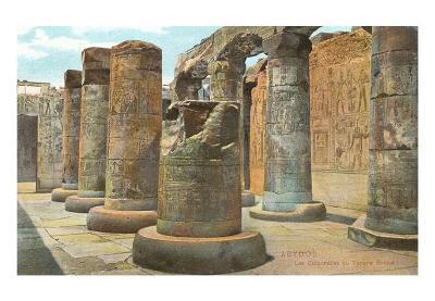 Carved Columns, Abydos, Egypt