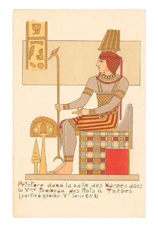 King of Thebes Tomb Painting, Egypt