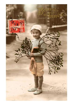 Bonne Annee, Boy with Branches