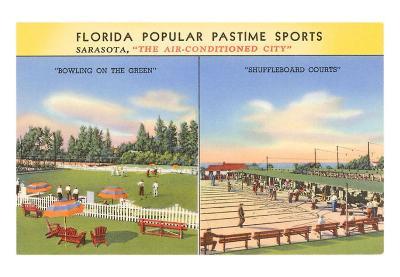 Green Bowling, Shuffleboard, Sarasota, Florida