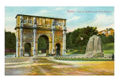 Arch of Constantine and Meta Sudans Fountain, Rome, Italy