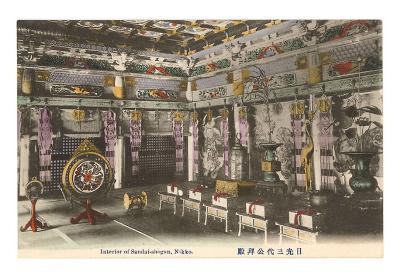 Interior, Sandai-Shogun, Nikko, Japan