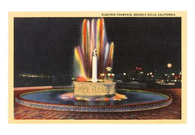 Electric Fountain, Beverly Hills, Los Angeles, California