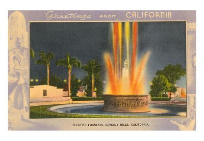 Greetings from California, Electric Fountain, Beverly Hills