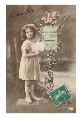 Bonne Fete, Girl Mailing Letter