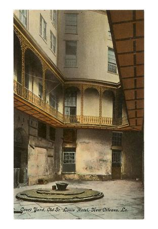 Courtyard, Old St. Louis Hotel, New Orleans, Louisiana