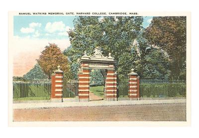 Watkins Memorial Gate, Harvard, Cambridge, Massachusetts