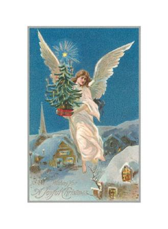 A Joyful Christmas, Angel with Tree