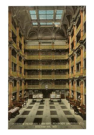 Interior, Peabody Library, Baltimore, Maryland