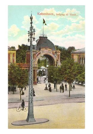 Entrance to Tivoli Gardens, Copenhagen, Denmark