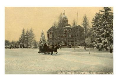 Courthouse in Winter, Rochester, Minnesota