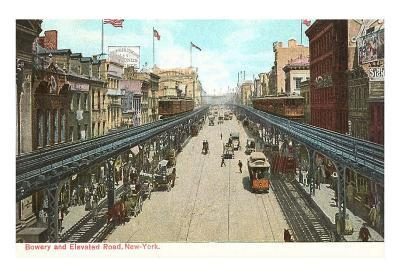 Bowery and Elevated Road, New York City