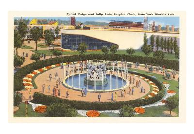 Spiral Hedge, Perylon Circle, New York World's Fair, 1939
