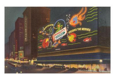 Night, Wrigley's Sign, New York City