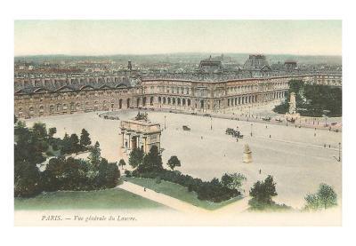 View over the Louvre, Paris, France