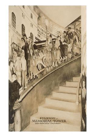 Stairway Mural, Coit Tower, San Francisco, California