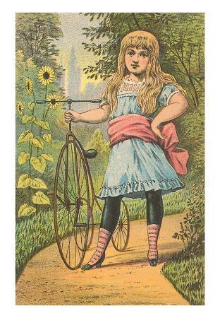 Victorian Girl with Penny Farthing