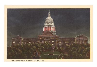 Night, State Capitol, Austin, Texas