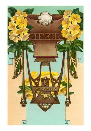 Art Nouveau April, Taurus