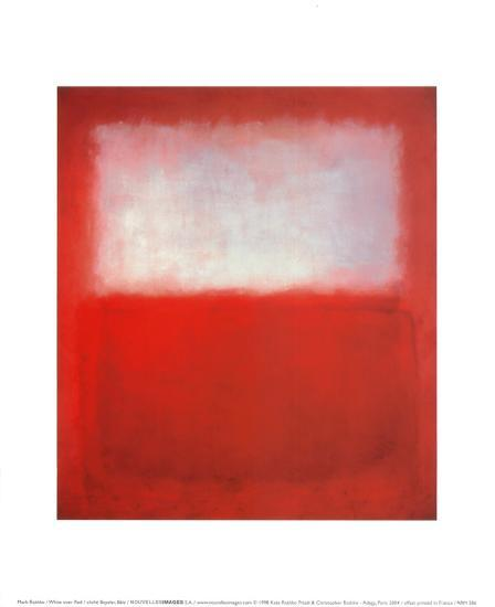 White Over Red Posters By Mark Rothko At Allposters Com