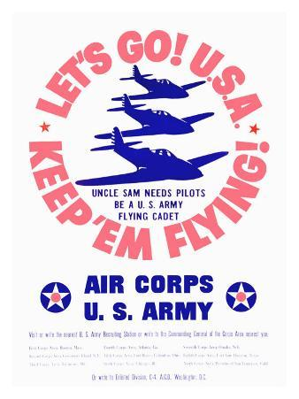 WWII, U.S. Army Air Corps, Let's Go