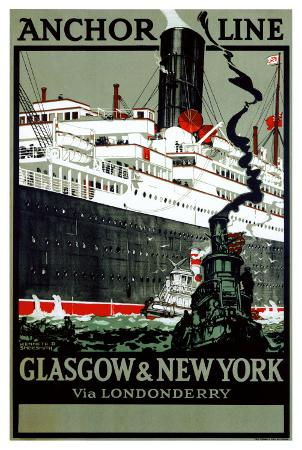 Anchor Line, Glasgow to New York