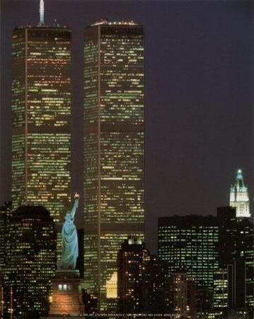 World Trade Center with Statue of Liberty