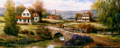 Farm with Stone Bridge