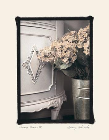Vintage Flowers III, Hydrangea Detail